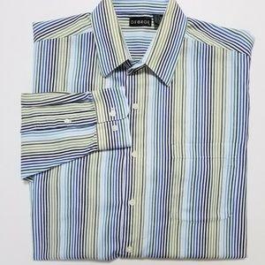GEORGE Men's Multicolor Stripe Canvas Shirt